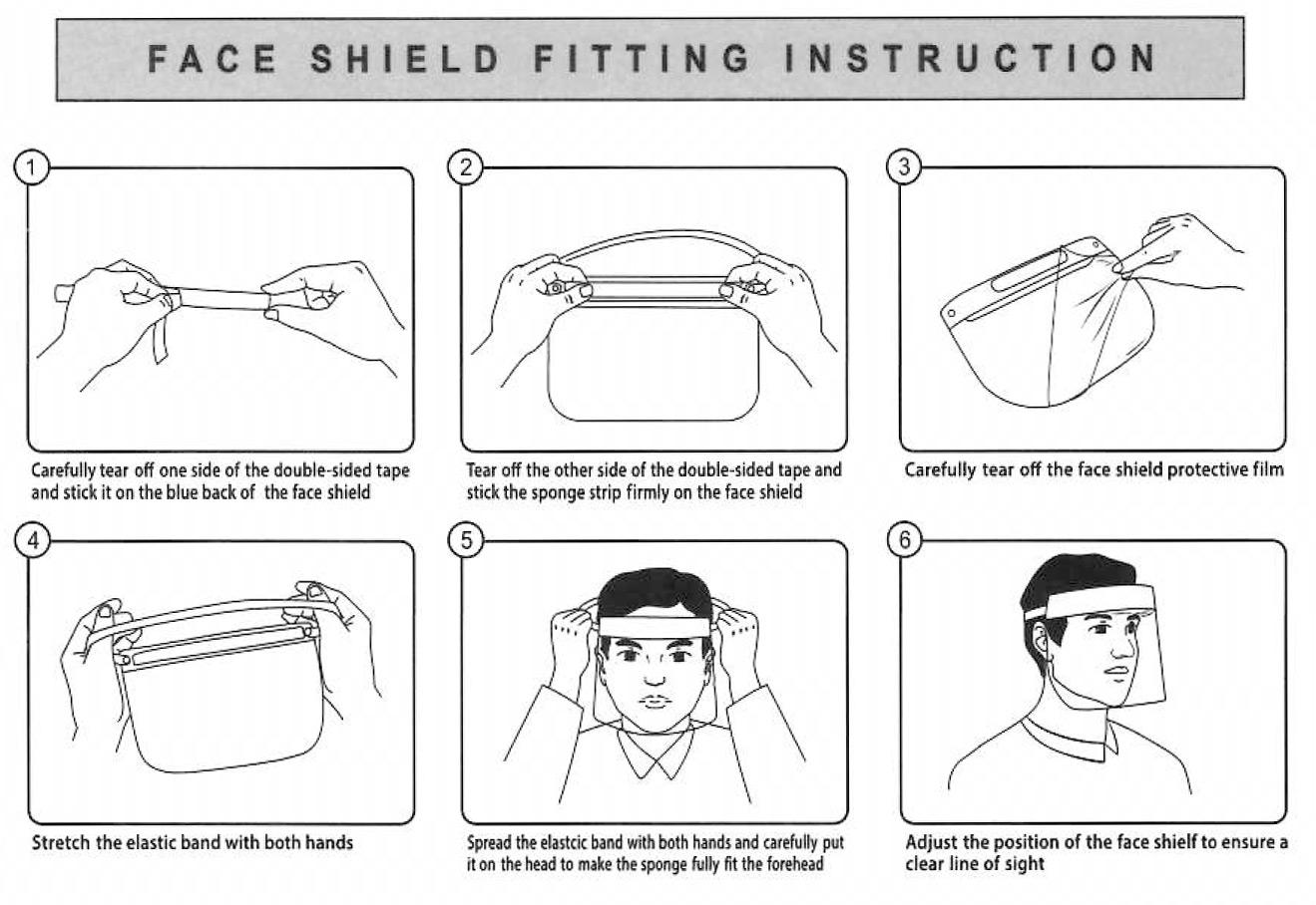 Návod k použití obličejového štítu